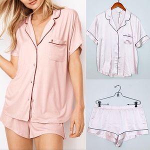 Victoria's Secret NEW Satin Pajama Sleep Set Sz L